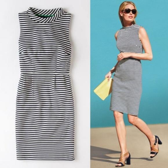 d59d4ab1d2 Boden Dresses & Skirts - BODEN Sixties Ponte dress nautical blue stripe 785